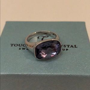 TOUCHSTONE CRYSTAL SWARVORSKI TANZANITE RING